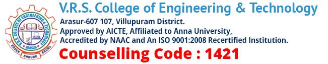 VRS College of Engineering & Technology | Villupuram, Tamilnadu